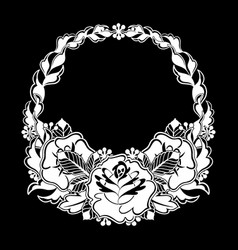 graphic floral wreath vector image