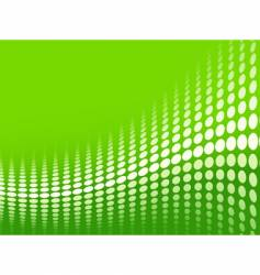green halftone background vector image