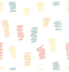 hand painted brush strokes pattern texture vector image