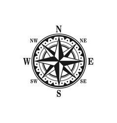icon marine nautical navigation compass vector image