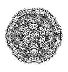image of a black and white circular pattern vector image
