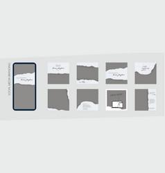 Instagram feed branding template ripe paper vector
