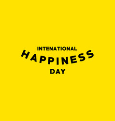 International happiness day template design vector