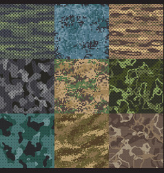 khaki texture camouflage fabric seamless patterns vector image