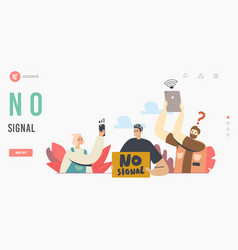 Lost wireless connection no wifi signal landing vector