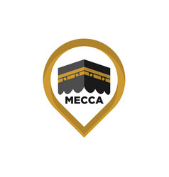 Mecca icon mecca sign kaaba symbol islamic icon vector