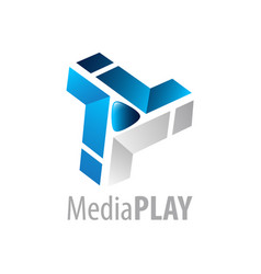 media play logo concept design symbol graphic vector image