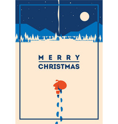 Merry christmas minimalistic vector