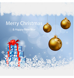 merry christmas snowflakes vector image