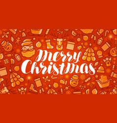 Merry christmas xmas greeting card or banner vector