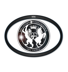 mi6 oval badge vector image