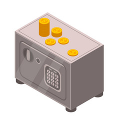 money safe icon isometric style vector image