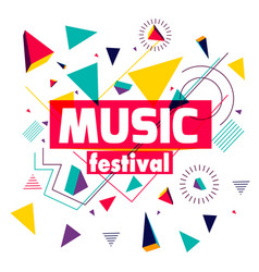 music festival colorful geometric background vector image