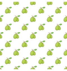 Olives branch with leaves pattern cartoon style vector image