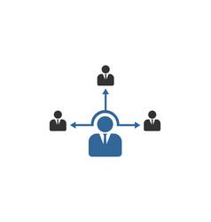 organization business office logo vector image