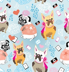 pattern of a dog Bulldogs vector image