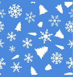 pattern with christmas element vector image
