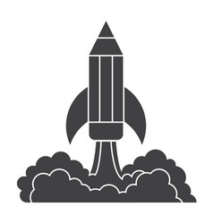 pencil launch vector image