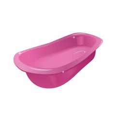 pink tub or bath vector image