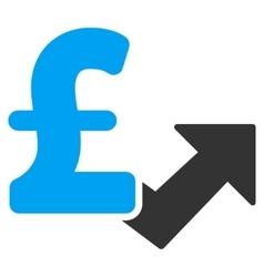 Pound Growth Flat Icon Symbol vector image