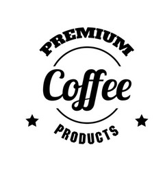premium coffee products circle frame white backgro vector image