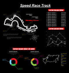 pursuit circuit black vector image
