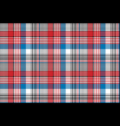 Red blue fabric texture check plaid seamless vector