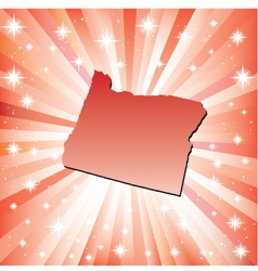 Red Oregon vector image