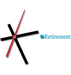 Retirement financial planning time vector
