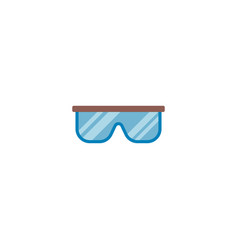 safety glasses icon flat element vector image