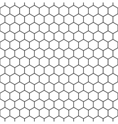 Seamless hexagonal background vector