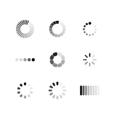 set loading icon download sign collection of vector image