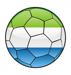 Sierra Leone flag on soccer ball vector