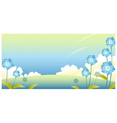 Sky Landscape flowers vector