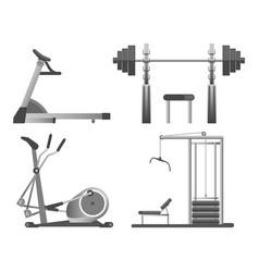 training apparatus with heavy blocks modern vector image