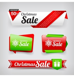 Collection of Christmas web tag banner promotion vector image vector image