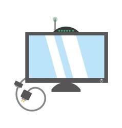 computer moden antena signal cable vector image