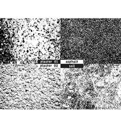 Grunge backgrounds set vector image