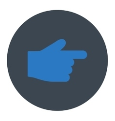 Index finger flat smooth blue colors round button vector