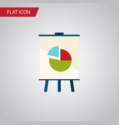 isolated chart flat icon easel element can vector image
