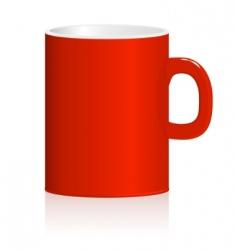 red mug vector image vector image