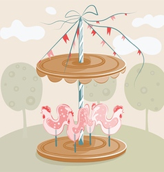 sweet cock carousel vector image
