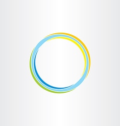 abstract circle background colorful design element vector image