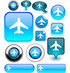 Aircraft signs vector image