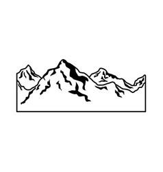 Alpine mountain switzerland landscape travel image vector