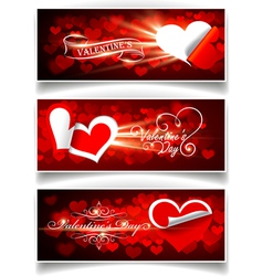 banners on valentines day vector image