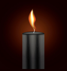 black candle flame vector image vector image