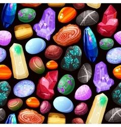 Crystals Stones Rocks Seamless Pattern vector image vector image