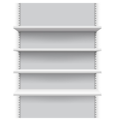 Empty market retail stand with shelves for vector image