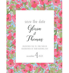 Greeting card for the wedding day vector